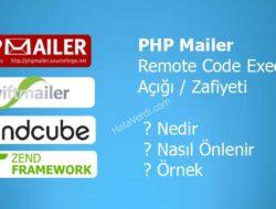 PHP Mailer Remote Code Execution Açığı / Zafiyeti