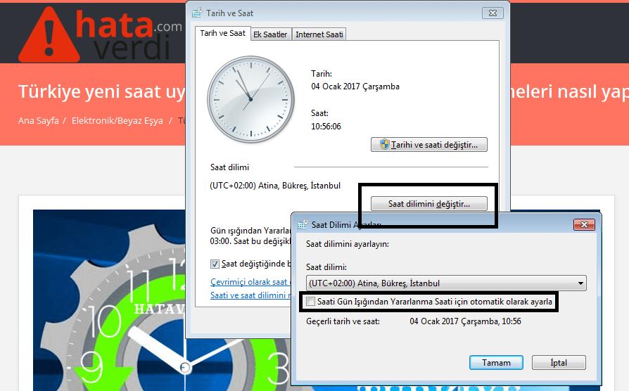 Türkiye yeni saat uygulaması için bilgisayar saat güncellemeleri nasıl yapılır?