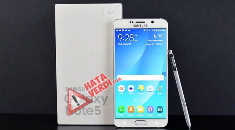 Samsung Galaxy Note 5 Klavyem Çalışmıyor – Nasıl Düzeltirim Yardım?