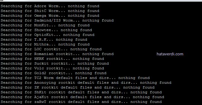 ChkRootkit ile Rootkit Tarama