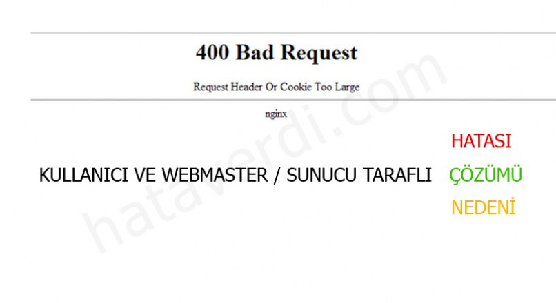 400 Bad Request Request Header Or Cookie Too Large nginx