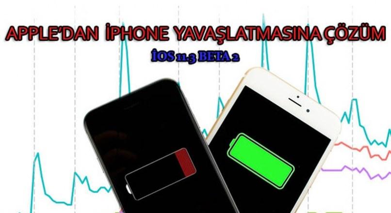iOS 11.3  ile IPhone'lar artık yavaşlamayacak! Apple Çözümü Sundu..