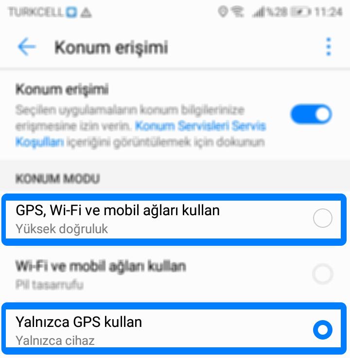 QR ile Para Çekme - Yatırma özelliğini kullanabilmek için lütfen GPS'inizi açın - Sorununun / Hatasının Çözümü