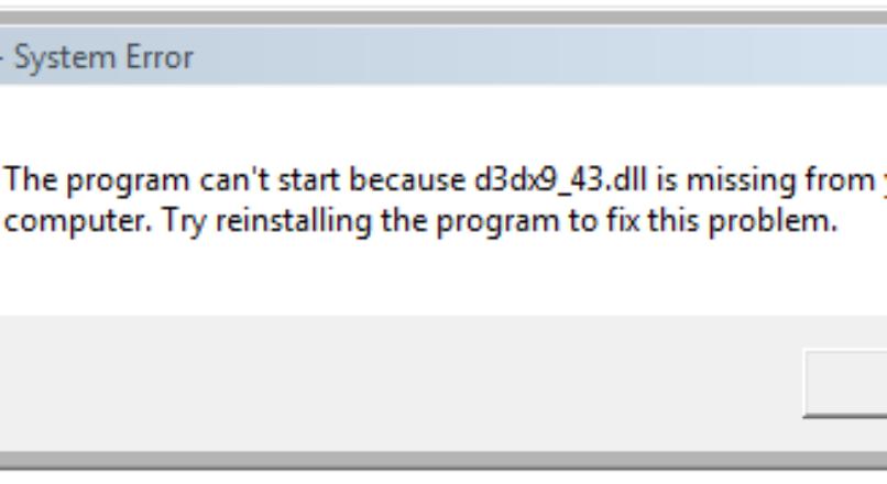 Windows D3DX9_43.DLL Hatası Nasıl Çözülür ?